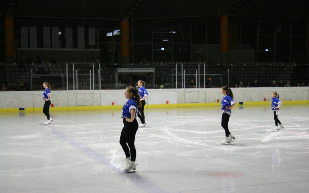 Showeinlage beim Eishockey